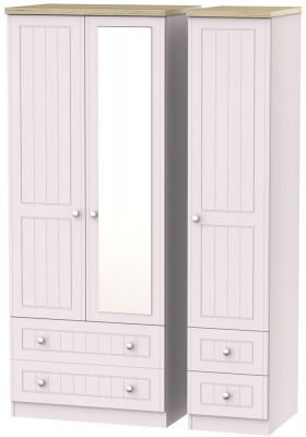 Vienna Kaschmir Ash 3 Door 4 Drawer Combi Wardrobe
