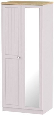 Vienna Kaschmir Ash Wardrobe - 2ft 6in with Mirror