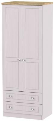 Vienna Kaschmir Ash 2 Door 2 Drawer Tall Wardrobe