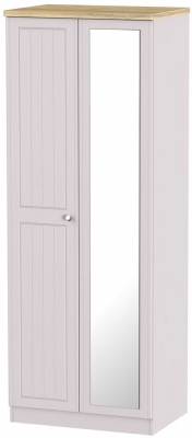 Vienna Kaschmir Ash 2 Door Tall Mirror Wardrobe
