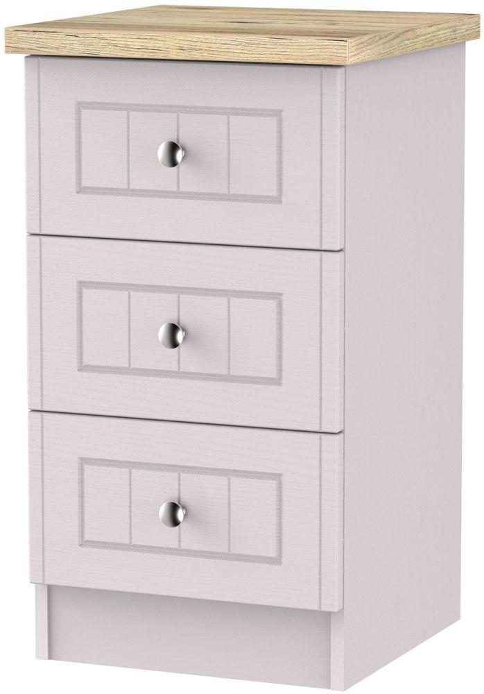 Vienna Kaschmir Ash 3 Drawer Bedside Cabinet