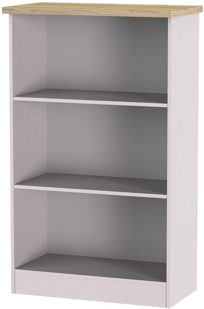 Vienna Kaschmir Ash Bookcase - 2 Shelves