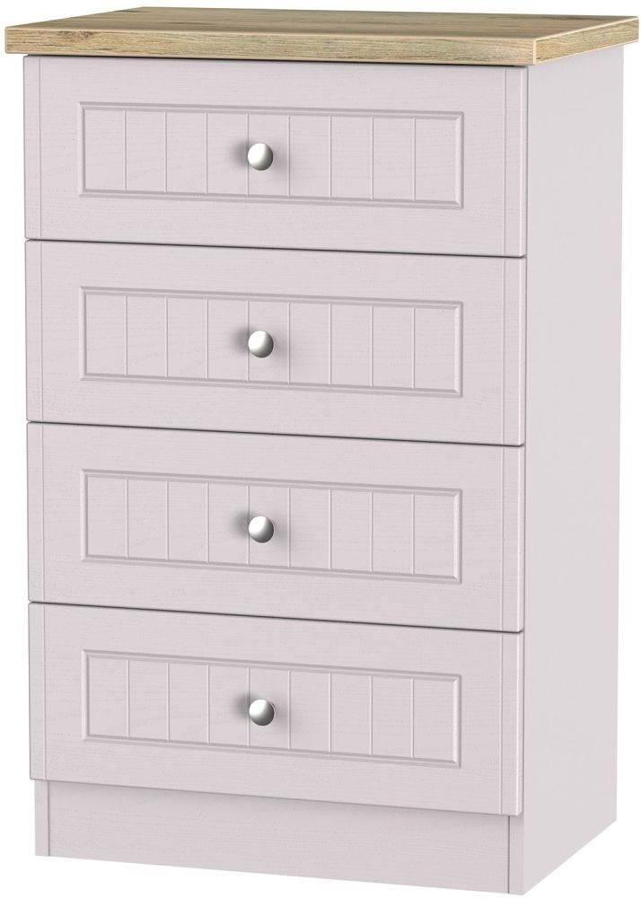 Vienna Kaschmir Ash Chest of Drawer - 4 Drawer Midi