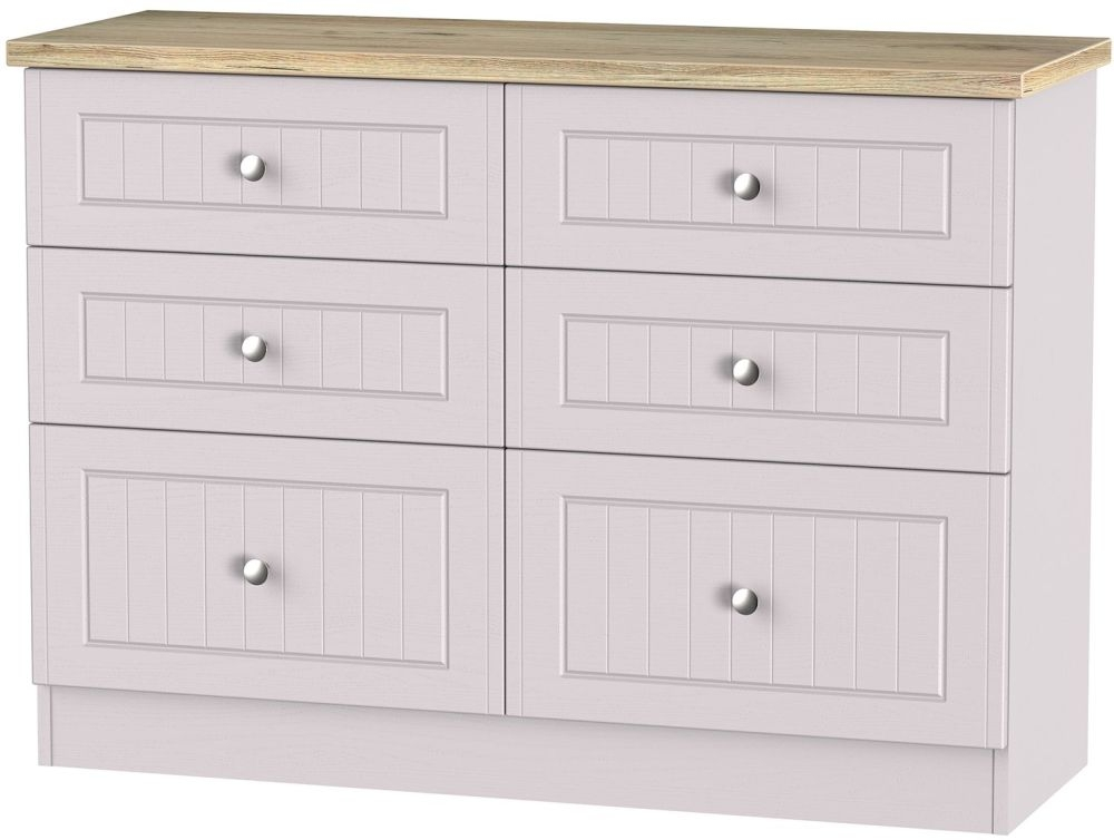 Vienna Kaschmir Ash 6 Drawer Midi Chest