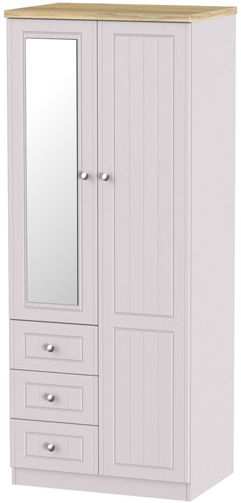 Vienna Kaschmir Ash 2 Door 3 Drawer Combi Wardrobe