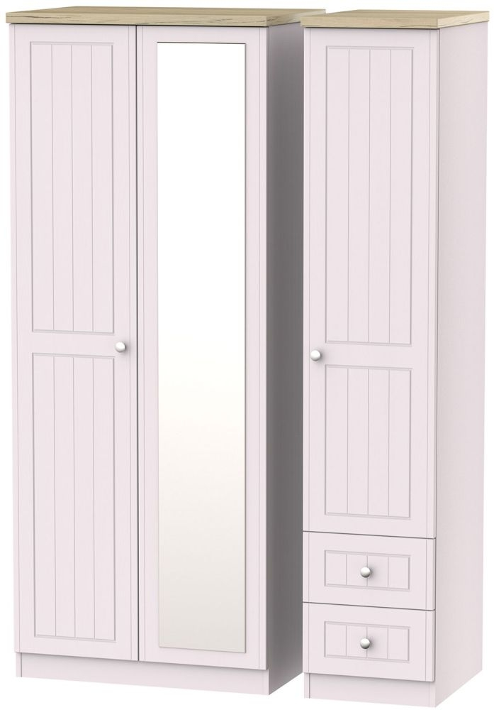 Vienna Kaschmir Ash 3 Door 2 Right Drawer Combi Wardrobe