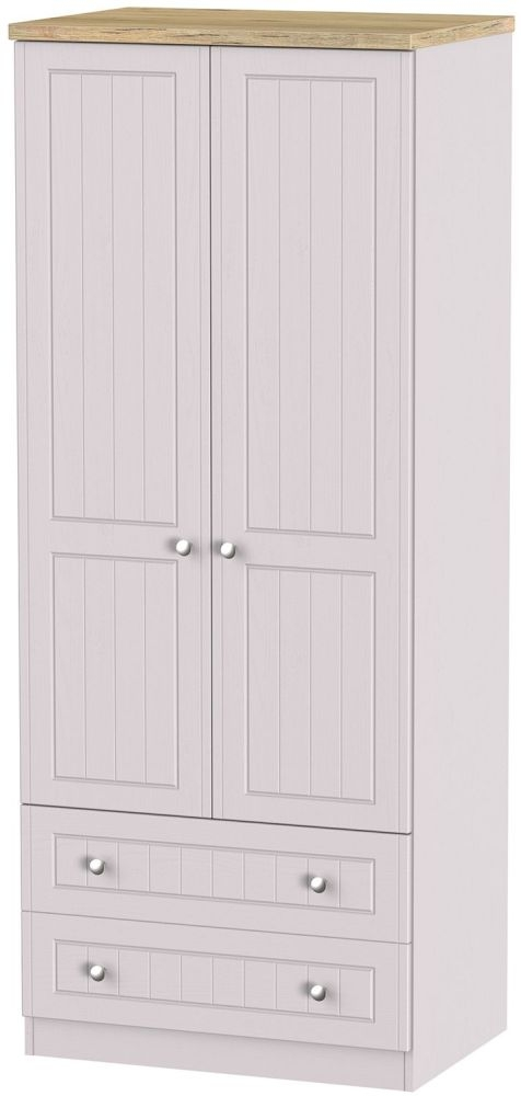 Vienna Kaschmir Ash Wardrobe - 2ft 6in with 2 Drawer