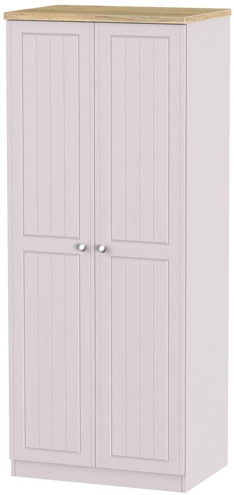 Vienna Kaschmir Ash 2 Door Plain Wardrobe