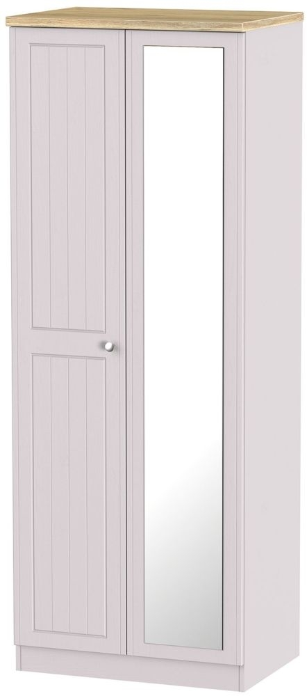 Vienna Kaschmir Ash 2 Door Tall Mirror Double Wardrobe