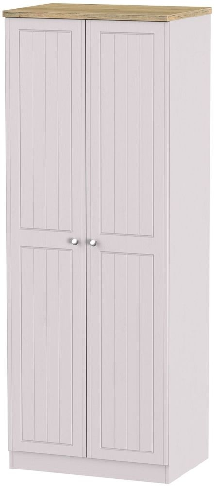 Vienna Kaschmir Ash Wardrobe - Tall 2ft 6in with Plain