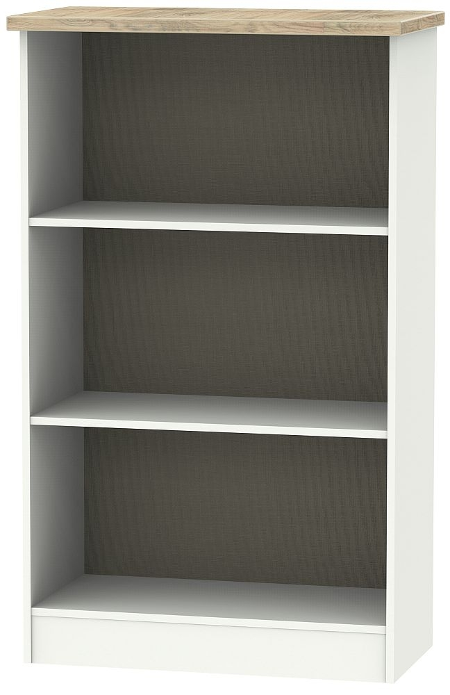 Vienna Bookcase - Porcelain Ash and Bordeaux Oak