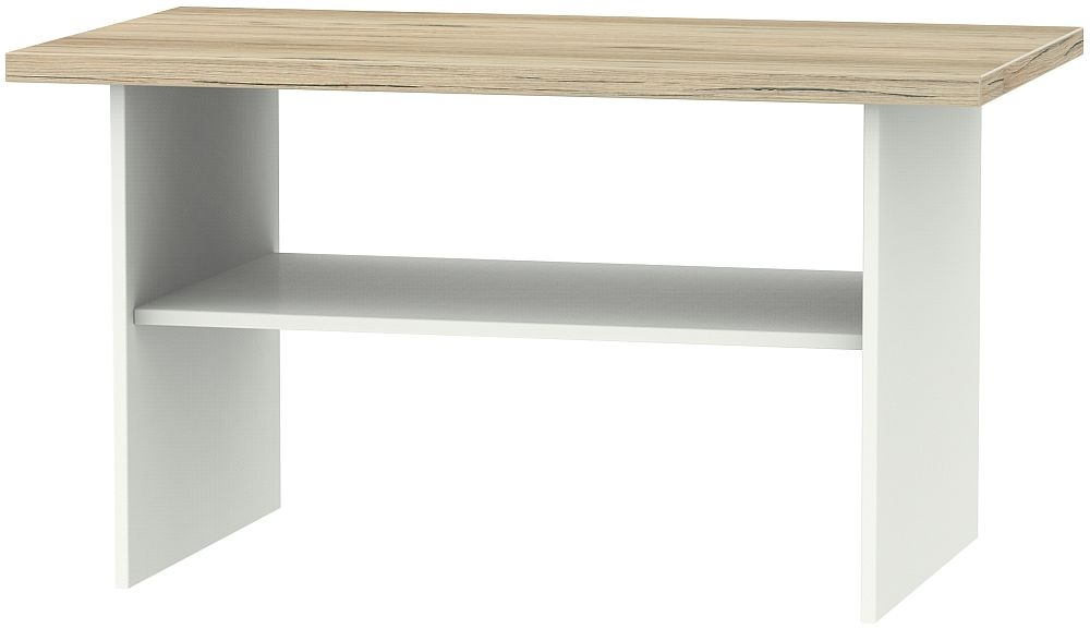 Vienna Coffee Table - Porcelain Ash and Bordeaux Oak
