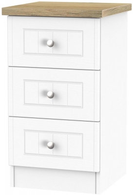 Vienna Porcelain Bedside - 3 Drawer Locker