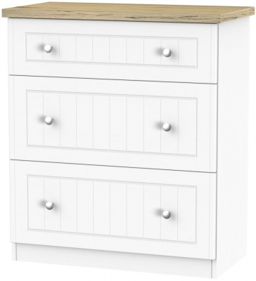 Vienna Porcelain Chest of Drawer - 3 Drawer Deep