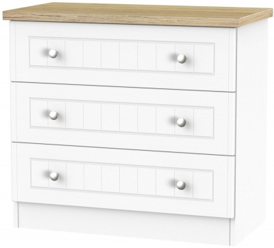 Vienna Porcelain 3 Drawer Chest