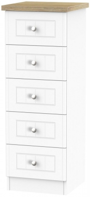 Vienna Porcelain Chest of Drawer - 5 Drawer Locker