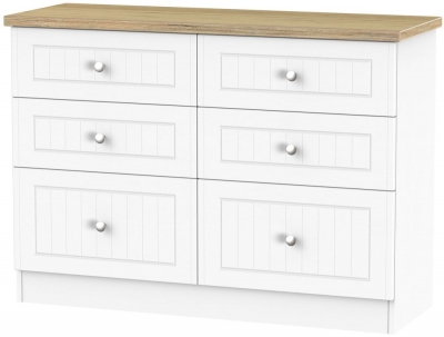 Vienna Porcelain 6 Drawer Midi Chest