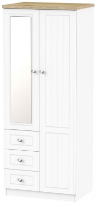 Vienna Porcelain Combination Wardrobe with 2ft 6in