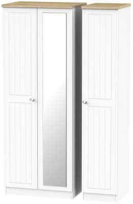 Vienna Porcelain 3 Door Tall Mirror Wardrobe
