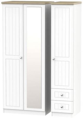 Vienna Porcelain 3 Door 2 Right Drawer Combi Wardrobe