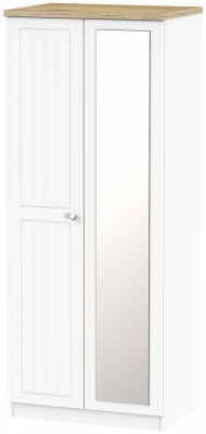 Vienna Porcelain 2 Door Mirror Wardrobe