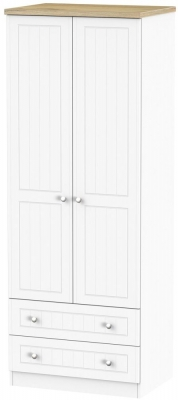 Vienna Porcelain Wardrobe - Tall 2ft 6in with 2 Drawer
