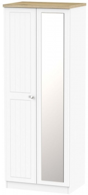 Vienna Porcelain 2 Door Tall Mirror Wardrobe
