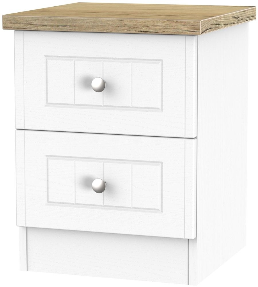 Vienna Porcelain Bedside - 2 Drawer Locker