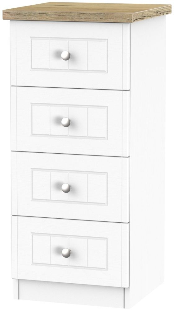 Vienna Porcelain Chest of Drawer - 4 Drawer Locker