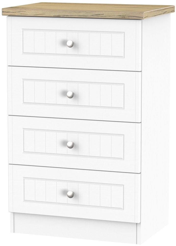 Vienna Porcelain 4 Drawer Midi Chest