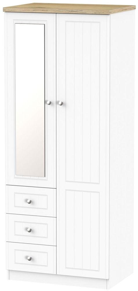Vienna Porcelain 2 Door 3 Drawer Combi Wardrobe