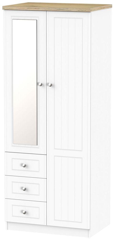 Vienna Porcelain 2 Door 3 Drawer Combination Wardrobe