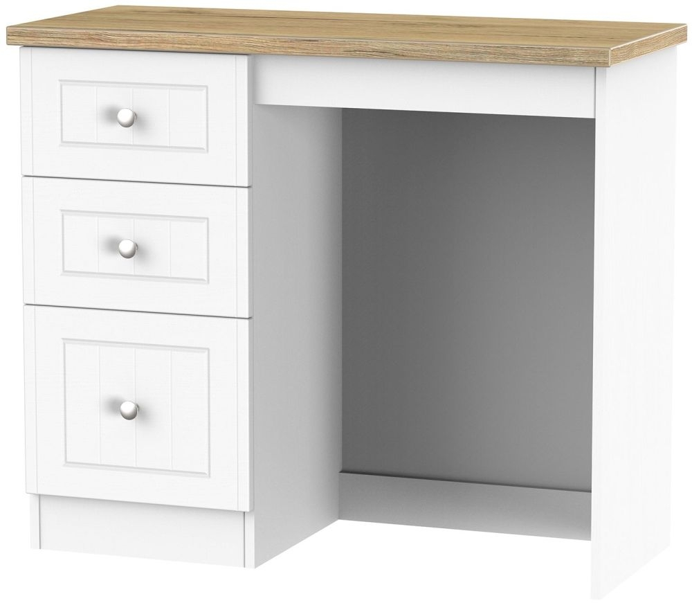 Vienna Porcelain Dressing Table - 3 Drawer Vanity
