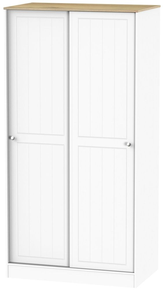 Vienna Porcelain Sliding Wardrobe - Wide