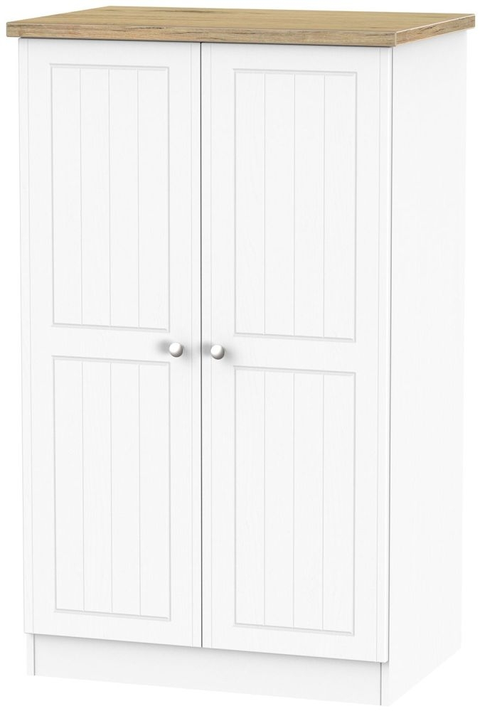Vienna Porcelain 2 Door Plain Midi Wardrobe