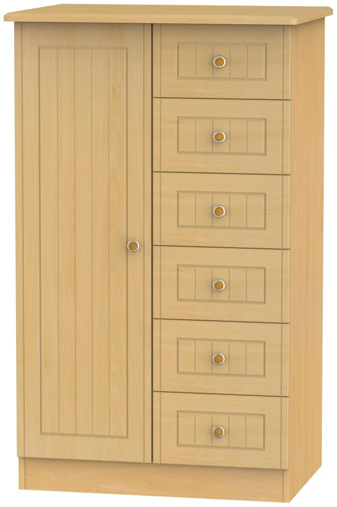 Warwick Beech 1 Door Children Wardrobe