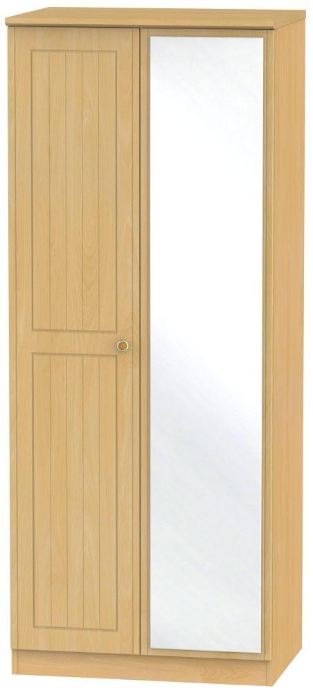 Warwick Beech 2 Door Mirror Wardrobe