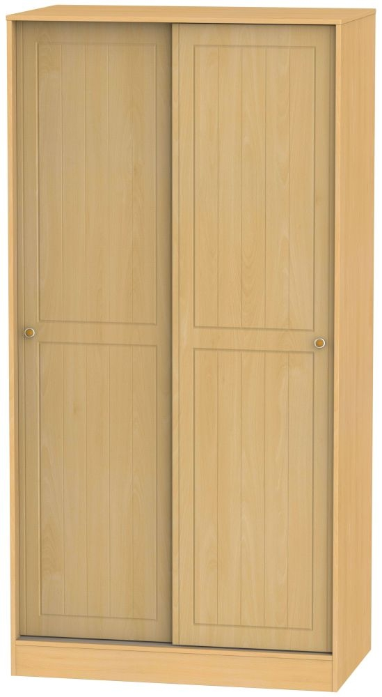 Warwick Beech 2 Door Sliding Wardrobe