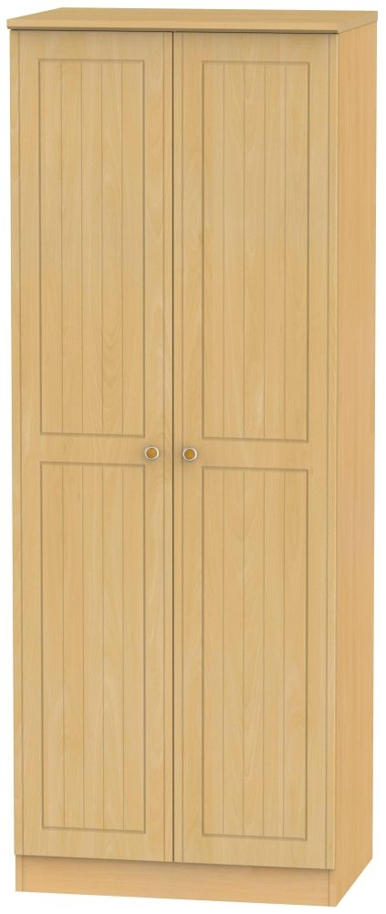Warwick Beech 2 Door Tall Hanging Wardrobe