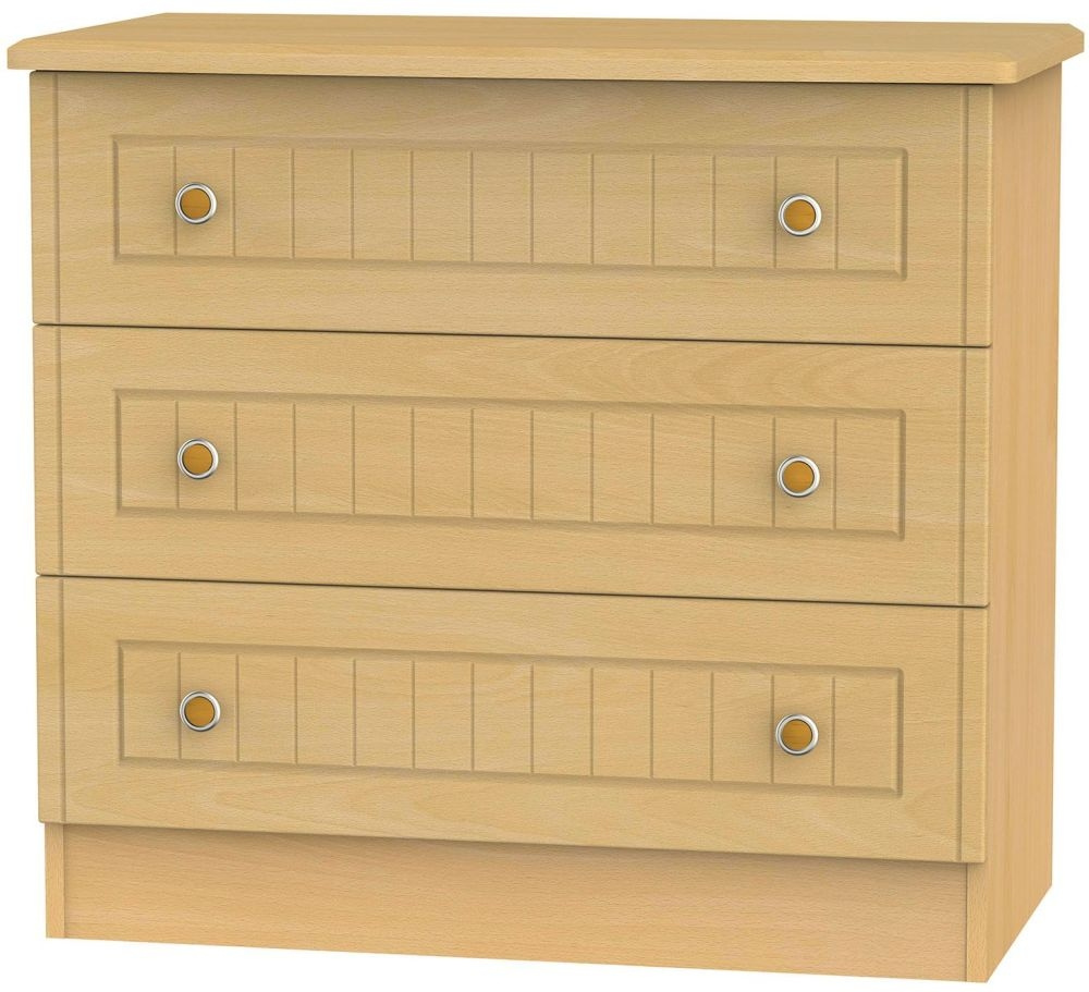 Warwick Beech Chest of Drawer - 3 Drawer