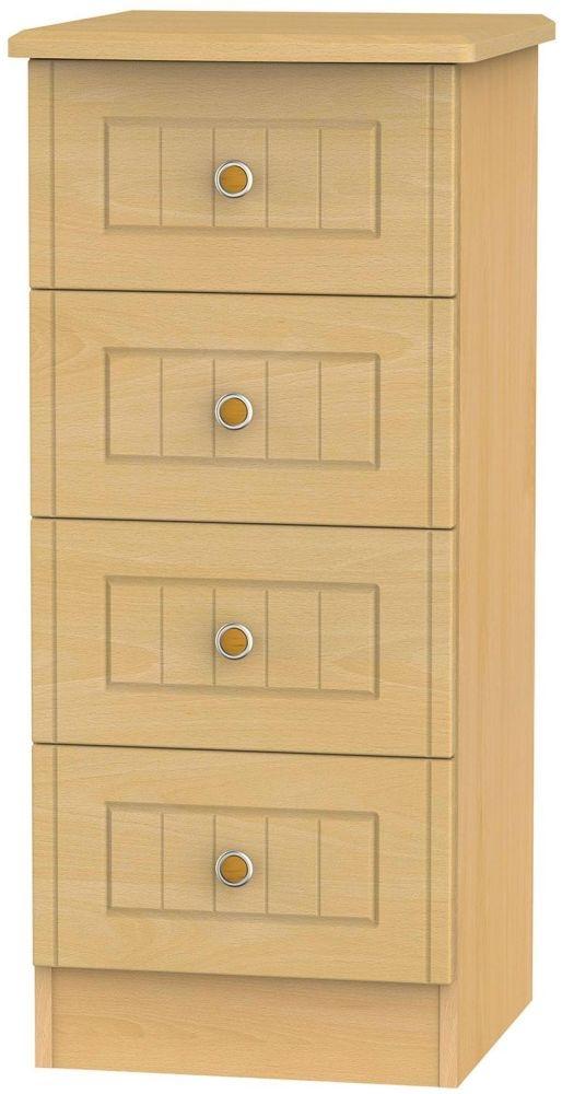 Warwick Beech Chest of Drawer - 4 Drawer Locker