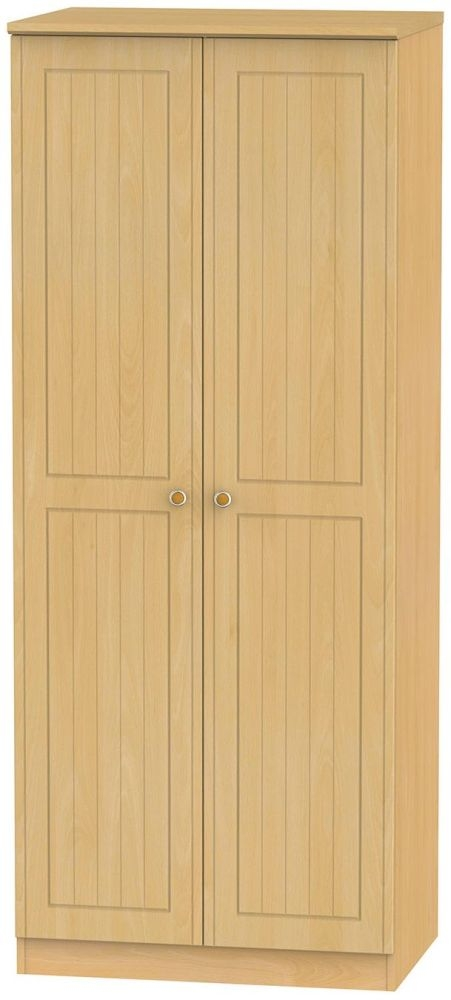 Warwick Beech Wardrobe - 2ft 6in Plain