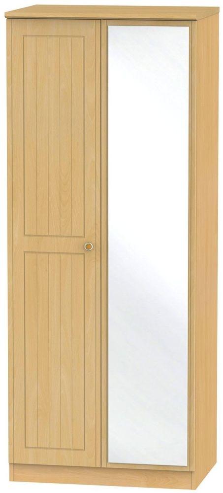 Warwick Beech Wardrobe - 2ft 6in with Mirror