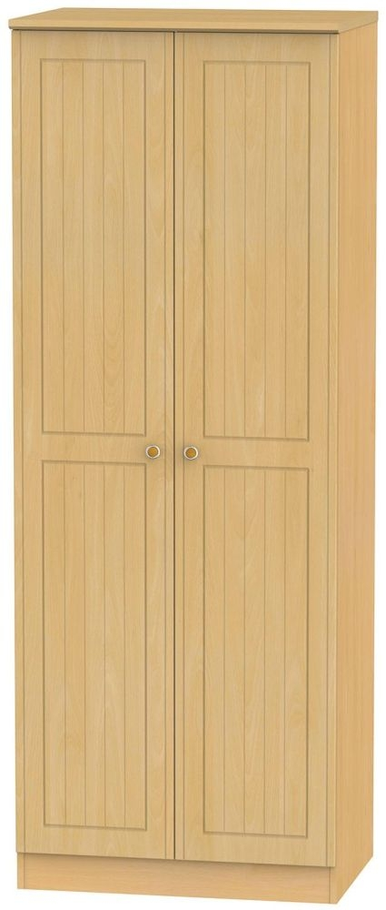 Warwick Beech Wardrobe - Tall 2ft 6in Plain