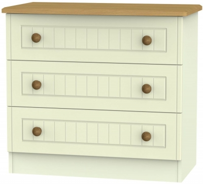 Warwick Cream and Oak 3 Drawer Chest