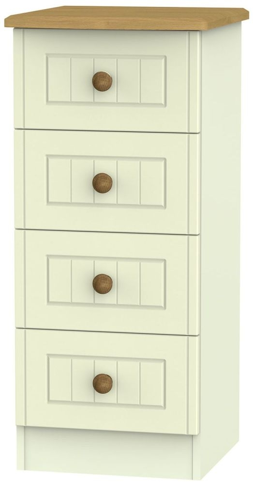 Warwick Cream and Oak 4 Drawer Locker Chest