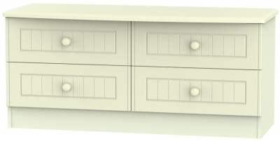 Warwick Cream Bed Box - 4 Drawer