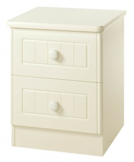 Warwick Cream Bedside Cabinet - 2 Drawer