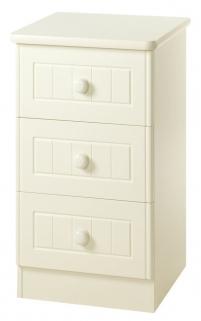 Warwick Cream Bedside Cabinet - 3 Drawer