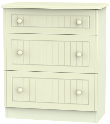 Warwick Cream Chest of Drawer - 3 Drawer Deep